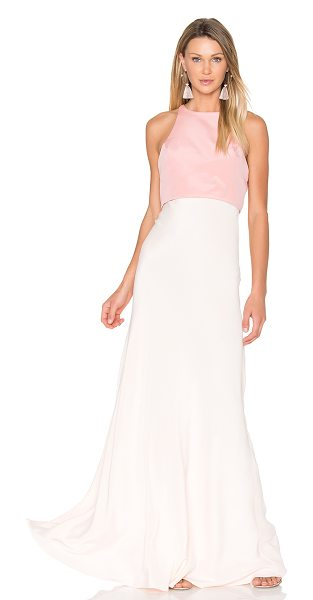 JILL JILL STUART Two Tone Gown - Silk blend. Dry clean only. Fully lined. Fabric overlay...