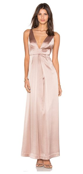 Jill Jill Stuart V Front Gown in blush - Self: 76% triacetate 24% polyLining: 100% acetate. Dry...