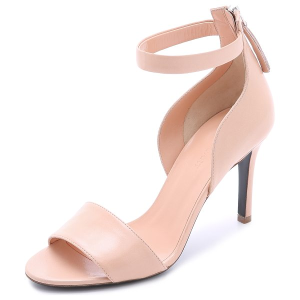 Jill Stuart Faye sandals in blush - A curved section complements the elegant look of these...