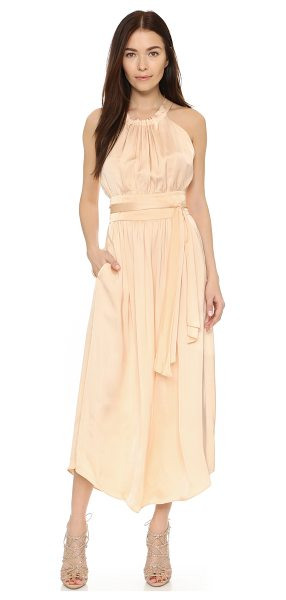 Jill Stuart Jennah maxi dress in vanilla - Ruching lends soft volume to this Jill Stuart maxi...