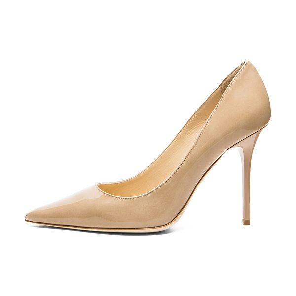 JIMMY CHOO Abel 100 Patent Pumps - Patent leather upper with leather sole.  Made in Italy. ...