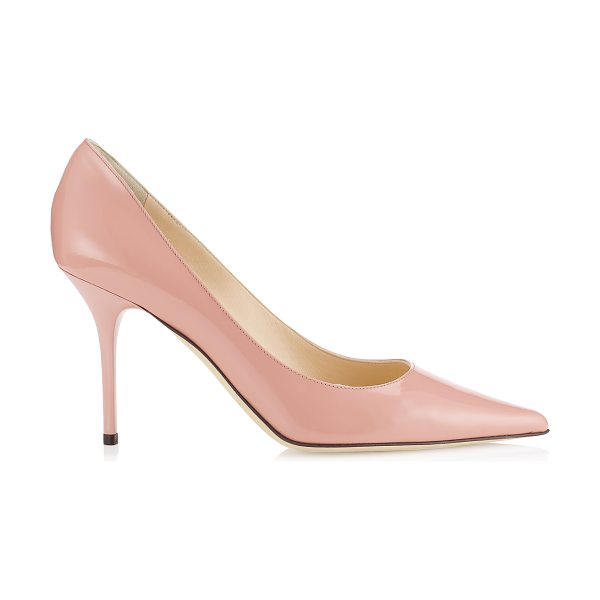 Jimmy Choo Agnes blush patent pointy toe pumps in blush - These beautifully cut, ladylike pumps will add a...