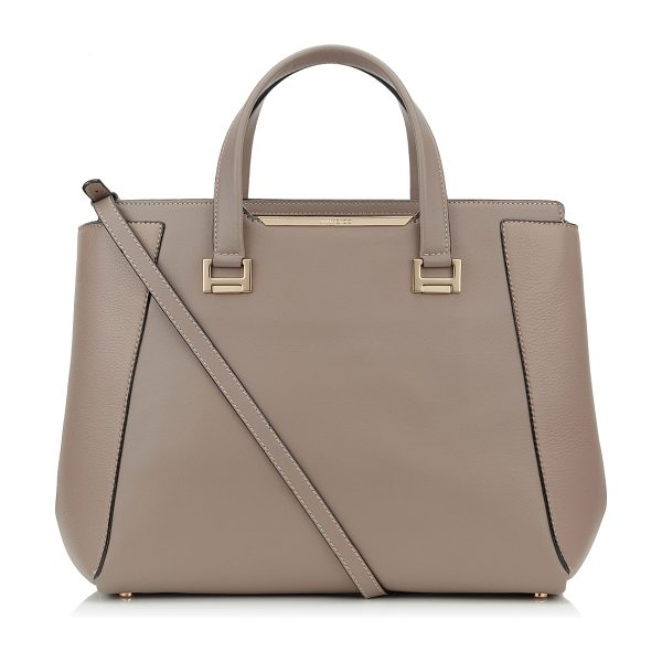 Jimmy Choo Alfie l musk soft smooth and soft calf leather tote bag in musk/musk - A classic tote style reworked to create a modern day bag...