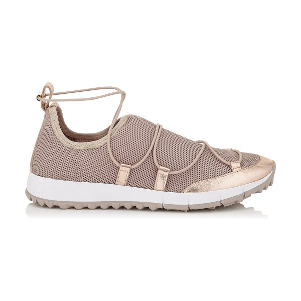 Jimmy Choo ANDREA Tea Rose Fabric Mesh Trainers in tea rose - A mix of stretch mesh materials, tonal detailing and...