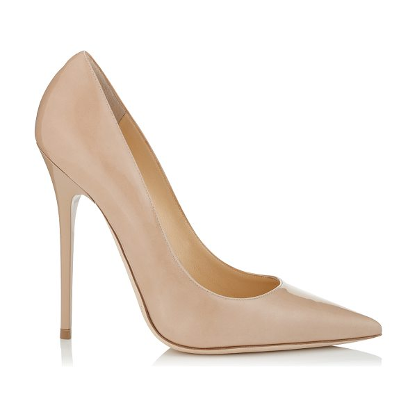Jimmy Choo ANOUK Nude Patent Pointy Toe Stiletto Pumps in nude - The perfect pair of nude patent stiletto pumps is a...