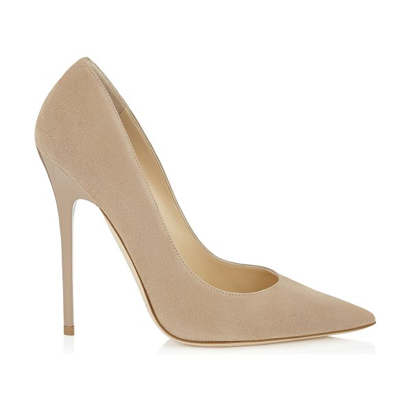 Jimmy Choo ANOUK Nude Suede Pointy Toe Pumps in nude