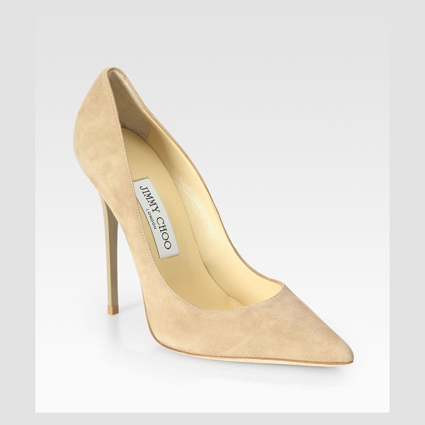 JIMMY CHOO Anouk suede pumps - Velvety suede points the way to an ultra-modern classic...