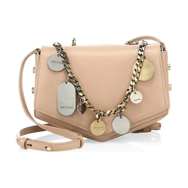 Jimmy Choo arrow embellished chain & leather crossbody bag in ballet pink - Arrow-inspired crossbody with embellished chain detail....