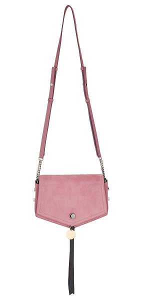 Jimmy Choo ARROW Vintage Rose Suede Cross Body Bag in vintage rose - Reflective of its name, the Arrow suede cross body bag's...