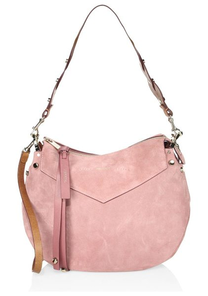Jimmy Choo artie suede shoulder bag in vintage rose - Relaxed hobo design in smooth suede with braided strap....