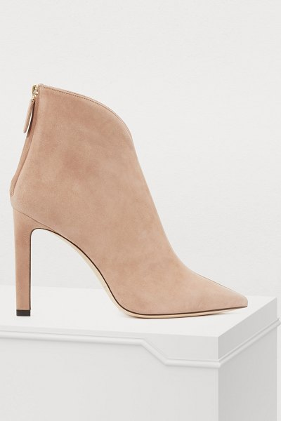 Jimmy Choo Bowie 100 ankle boots in ballet pink/clear