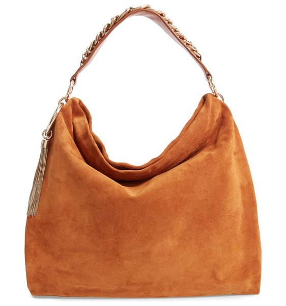 Jimmy Choo callie suede hobo in brown