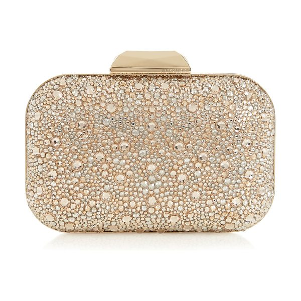 JIMMY CHOO CLOUD Golden Mix Crystal Covered Clutch Bag - Layered from top to bottom in luxurious Swarovski...