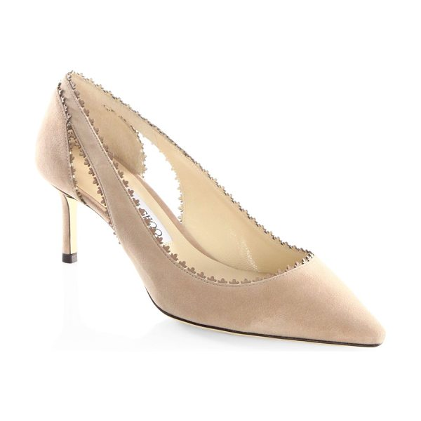 JIMMY CHOO diva 60 suede pumps - Elegant suede pump with scalloped trim and cutout sides....