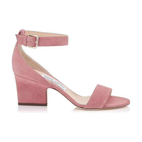 Jimmy Choo EDINA 65 Vintage Rose Suede Wedges in vintage rose - Inspired by the 24:7 Icons capsule collection, the Edina...