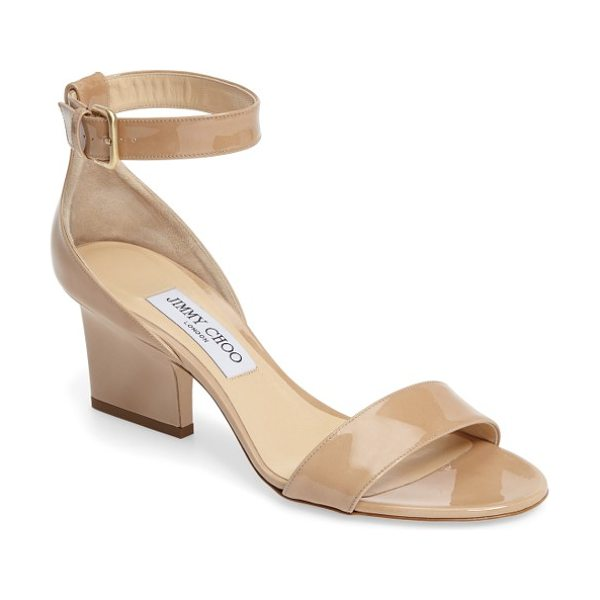 Jimmy Choo jimmy choo edina ankle strap sandal in nude