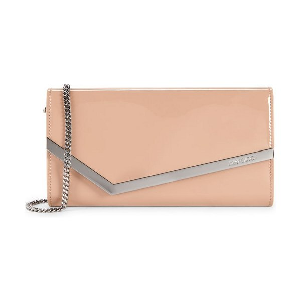 Jimmy Choo emmie patent leather clutch in ballet pink