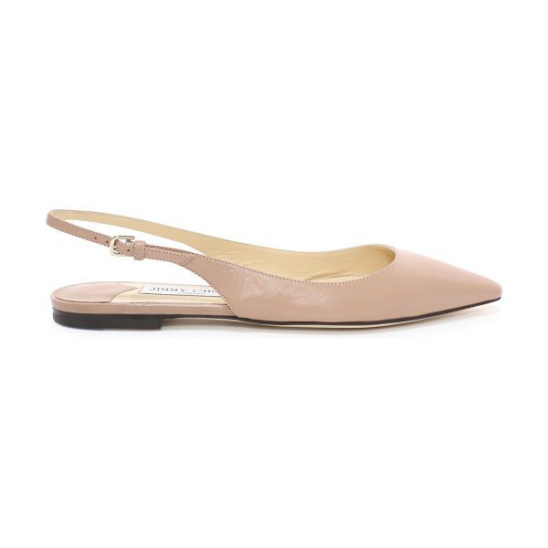 Jimmy Choo ERIN FLAT Ballet Pink Kid Leather Slingback Flats in ballet pink - The Erin pointed slingback flat in ballet pink leather...