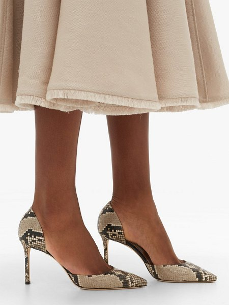Jimmy Choo esther 85 python-effect leather d'orsay pumps in python