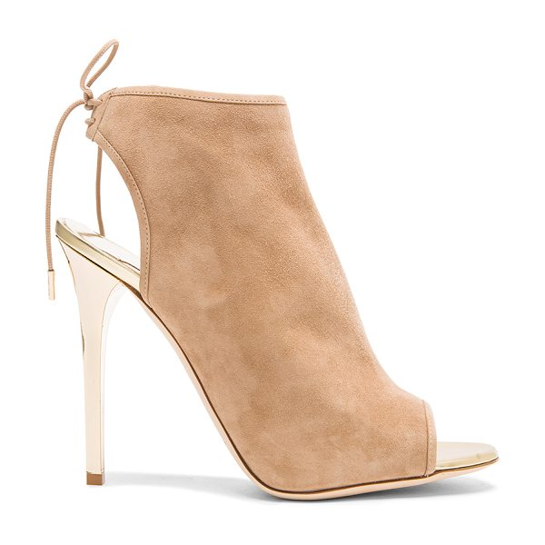 JIMMY CHOO Flume suede ankle booties in neutrals - Suede upper with leather sole.  Made in Italy.  Approx...