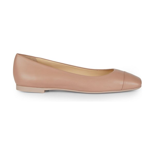 Jimmy Choo gloris square-toe leather ballet flats in ballet pink