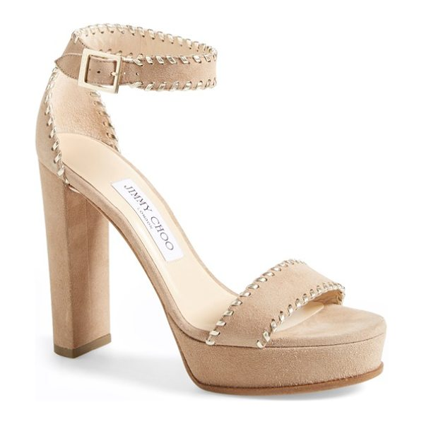 Jimmy Choo holly sandal in nude suede