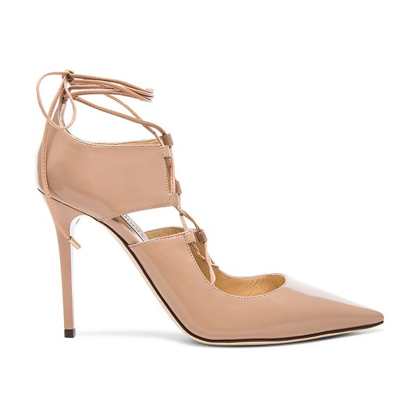 Jimmy Choo Hoops leather heels in neutrals - Leather upper and sole.  Made in Italy.  Approx 100mm/ 4...