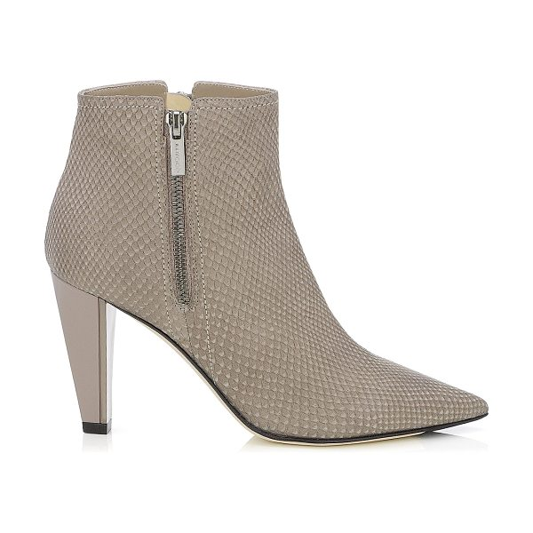 Jimmy Choo Hughie musk matt snake printed leather ankle boots in musk - An ankle boot's versatility means it is a wardrobe must....
