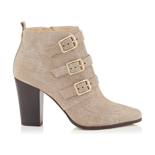 Jimmy Choo Hutch rope denim leather ankle boots in rope - A modern interpretation of the winkle picker boot, these...