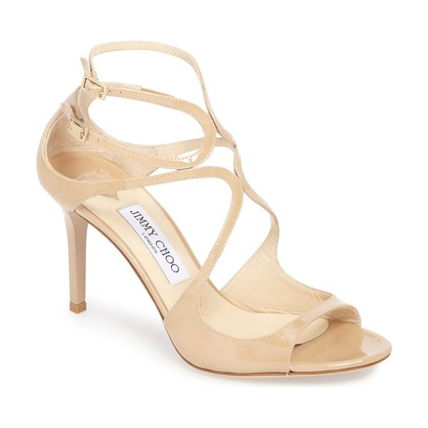 Jimmy Choo ivette sandal in nude - Sinuous straps crisscross and curve across a...
