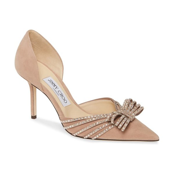 Jimmy Choo kaitence crystal bow d'orsay pump in pink