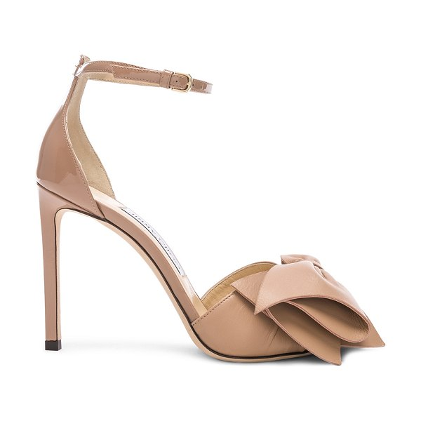 Jimmy Choo Karlotta Heel in pink - Leather upper and sole.  Made in Italy.  Approx 100mm/ 4...
