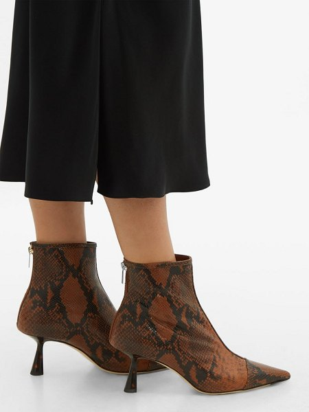 Jimmy Choo kix 65 python effect leather boots in tan multi