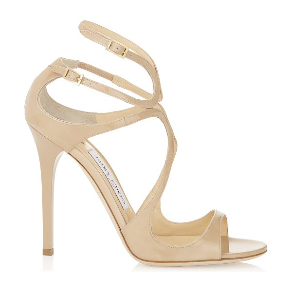 Jimmy Choo LANCE Nude Patent Leather Sandals in nude