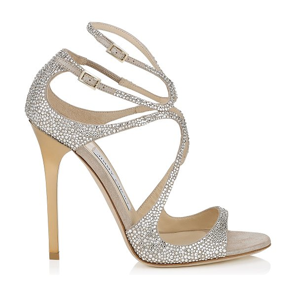 b939019a276d Jimmy Choo LANCE Nude Suede Sandals with Crystals in nude crystal - From  red carpets