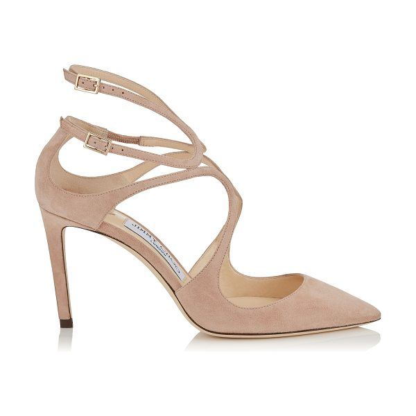 Jimmy Choo LANCER 85 Ballet Pink Suede Pointy Toe Pumps in ballet pink - A sexy and sophisticated pointy toe pump, the Lancer in...