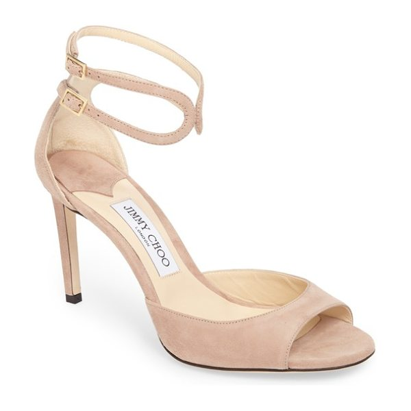 JIMMY CHOO lane sandal - A slim, turn-back ankle strap adds an interesting twist...