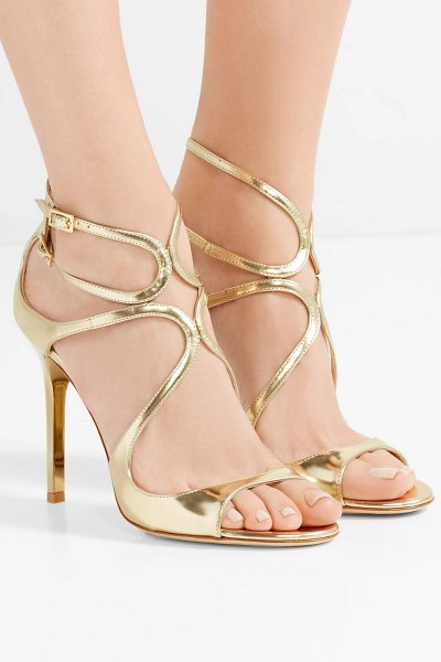 Jimmy Choo lang 100 metallic leather sandals in gold