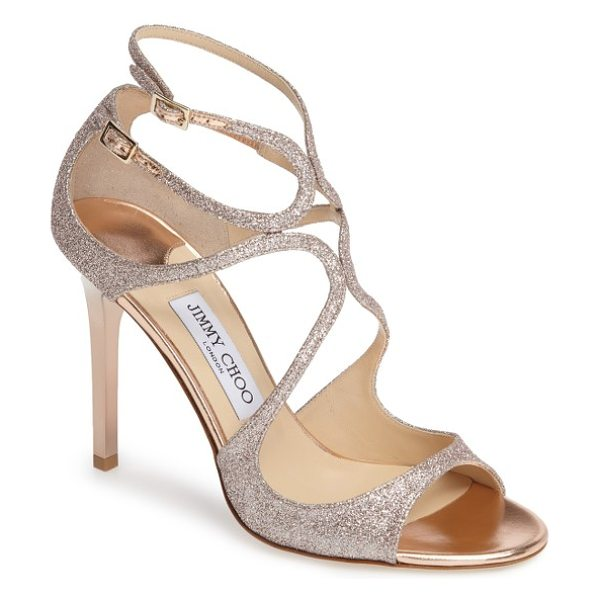 JIMMY CHOO jimmy choo lang sandal - A glittering finish amplifies the scene-stealing glamour...
