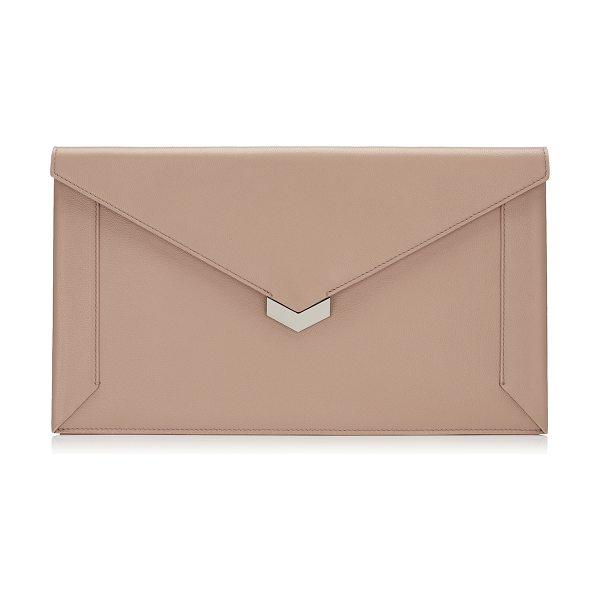 Jimmy Choo LAUREN Ballet Pink Nappa Leather Pouch in ballet pink - The Lauren pouch in ballet pink nappa leather is a chic...