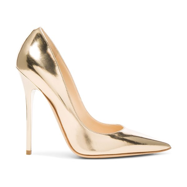 Jimmy Choo Leather Anouk Heels in metallics - Leather upper and sole.  Made in Italy.  Approx 115mm/...
