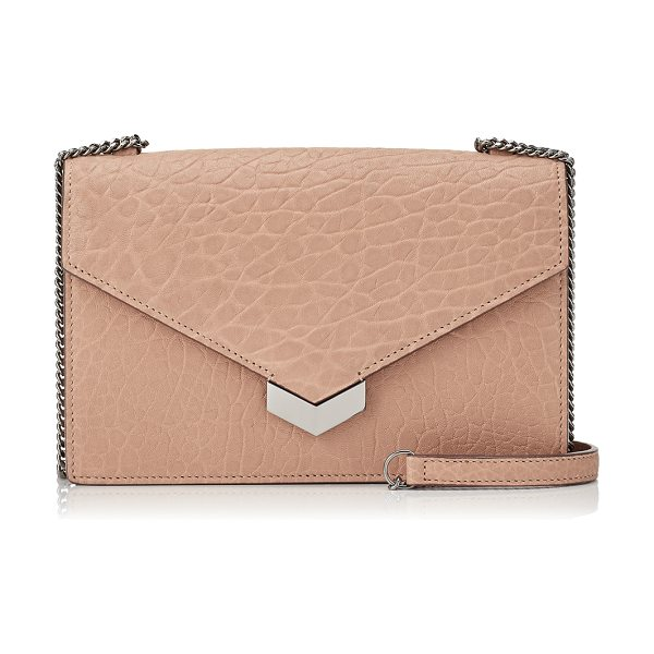 Jimmy Choo LEILA Ballet Pink Grainy Leather Cross Body Bag in ballet pink - Crafted in attractive grained leather tinted ballet...