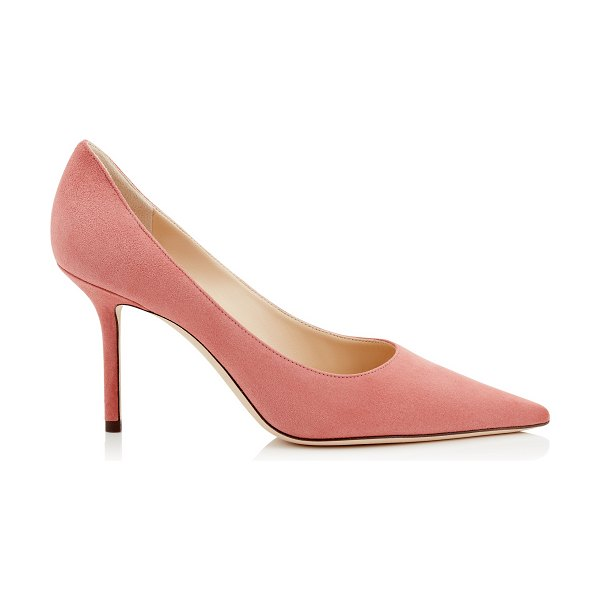 Jimmy Choo LOVE 85 Rosewood Suede Pointy Toe Pumps in rosewood