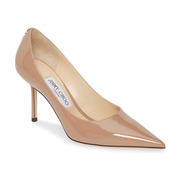 Jimmy Choo love patent pump in pink