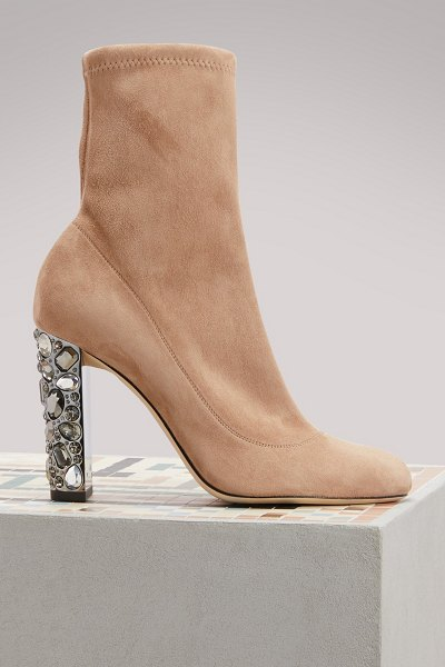 Jimmy Choo Maine 100 ankle boots in ballet pink - You'll be fully a disciple of the glamorous spirit and...