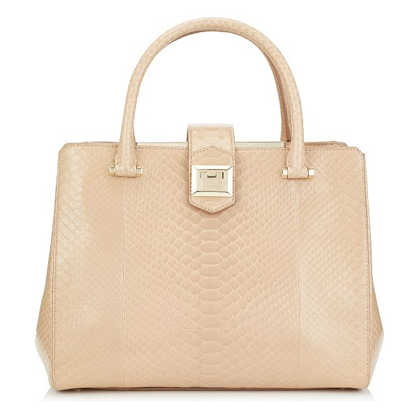 Jimmy Choo MARIANNE Nude Python Tote Bag in nude - Marianne in nude python offers a fresh and modern take...