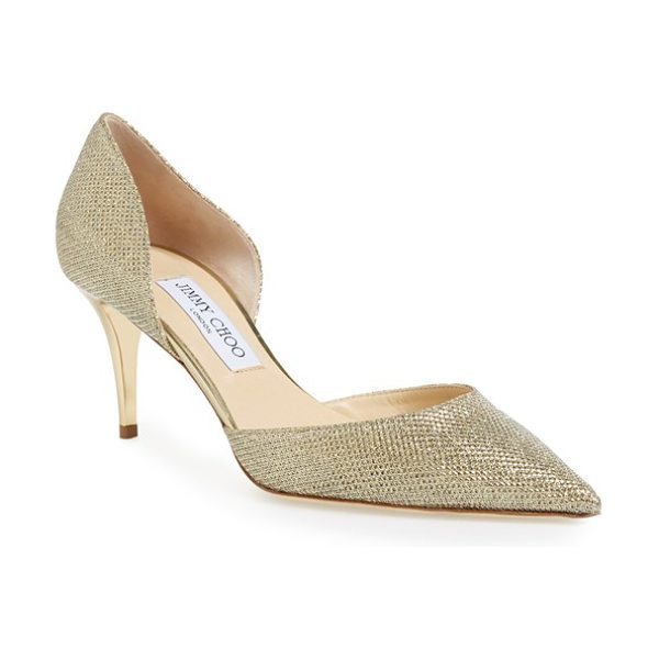 JIMMY CHOO mariella pump - A sleek pointed toe lengthens the lines of a glittering...