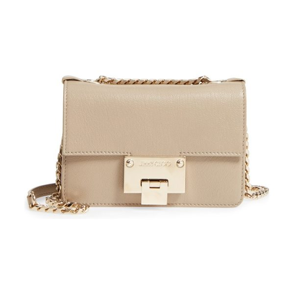 Jimmy Choo mini rebel leather crossbody bag in chai - Smooth calfskin leather defines the structured,...
