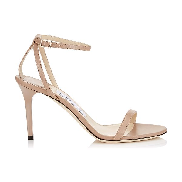Jimmy Choo MINNY 85 Ballet Pink Kid Leather Sandals in ballet pink
