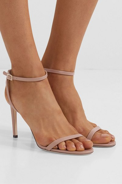 Jimmy Choo minny 85 leather sandals in antique rose
